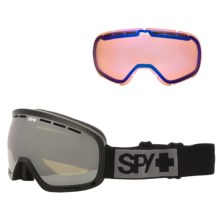 Spy Optics Marshall Ski Goggles in Black/Bronze W/Silver Mirror +Persimmon Contact - Closeouts