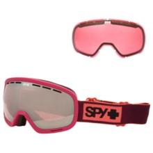 Spy Optics Marshall Ski Goggles in Elemental Blush/Pink W/Silver Mirror +Pink - Closeouts