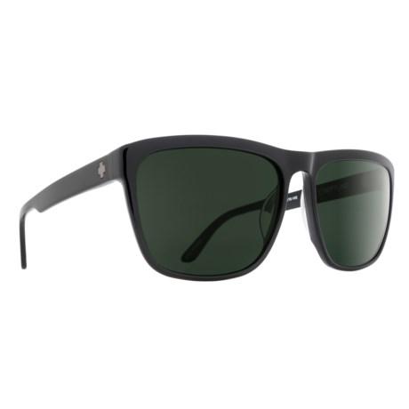 Spy Optics Neptune Sunglasses in Black/Happy Gray Green