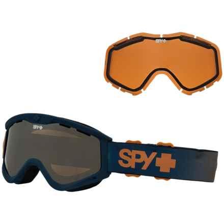 Spy Optics Targa 3 Ski Goggles - Blue Fade, Extra Lens (For Kids) in Blue Fade/Bronze/Silver Mirror/Persimmon - Closeouts