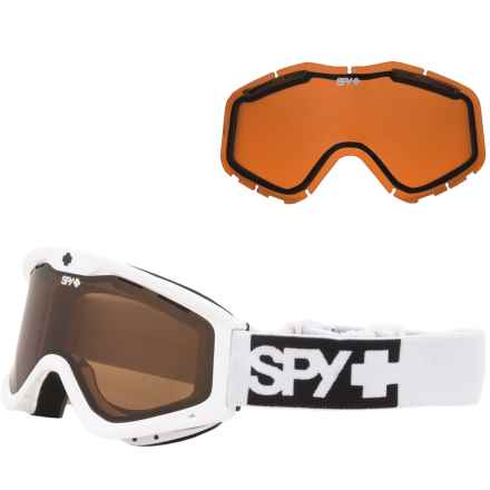 Spy Optics Targa 3 Ski Goggles - Extra Lens (For Kids) in White/Bronze/Silver Mirror/Persimmon - Closeouts