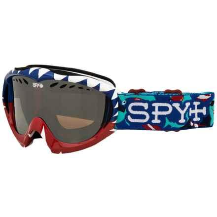 Spy Optics Targa Mini Ski Goggles - Party Shark (For Kids) in Party Sharks/Bronze/Silver Mirror - Closeouts