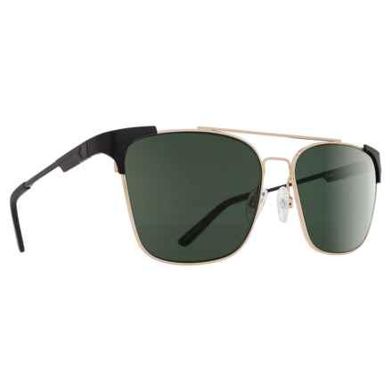 Spy Optics Wingate Sunglasses - Polarized in Matte Black/Gloss Gold/Happy Gray Green - Closeouts