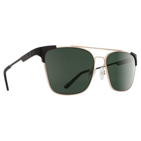 Spy Optics Wingate Sunglasses - Polarized in Matte Black/Gloss Gold/Happy Gray Green