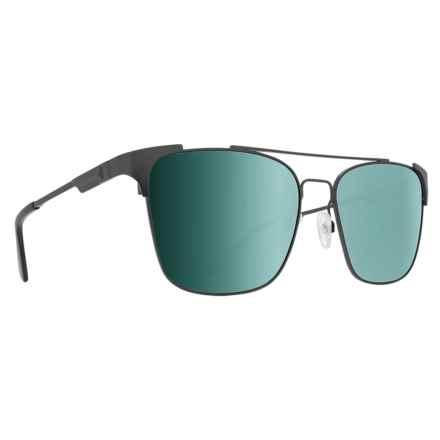 Spy Optics Wingate Sunglasses - Polarized in Matte Gunmetal/Happy Gray Green/Silver Mirror - Closeouts