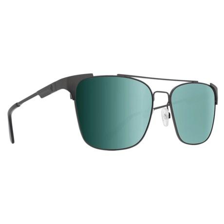 a693392e86 Spy Optics Wingate Sunglasses - Polarized in Matte Gunmetal Happy Gray  Green Silver Mirror
