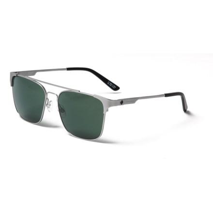 9cb4dc1b34 Spy Optics Wingate Sunglasses - Polarized in Matte Silver Happy Gray Green  - Closeouts