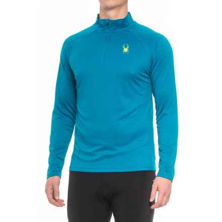 Spyder Active DryWEB Shirt - Zip Neck, Long Sleeve (For Men) in Concept Blue - Closeouts