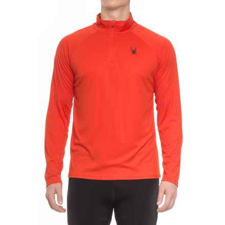 Spyder Active DryWEB Shirt - Zip Neck, Long Sleeve (For Men) in Volcano - Closeouts