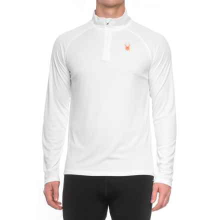 Spyder Active DryWEB Shirt - Zip Neck, Long Sleeve (For Men) in White - Closeouts