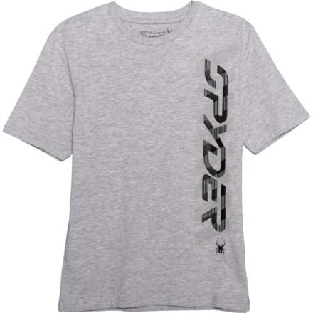 2e3b501a01d Spyder Alloy Heather Vertical Logo T-Shirt - Short Sleeve (For Big Boys)