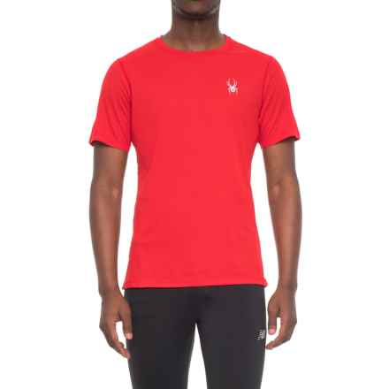 Spyder Alpine Tech T-Shirt - Short Sleeve (For Men) in Red/Black - Closeouts