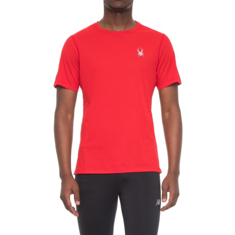 Spyder Alpine Tech T-Shirt - Short Sleeve (For Men) in Red/Black