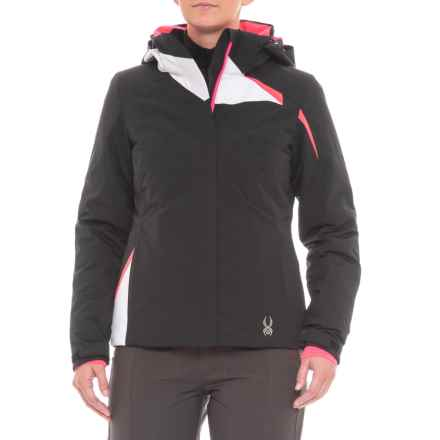 Spyder Amp Ski Jacket - Insulated (For Women) in Black/White/Bpk - Closeouts