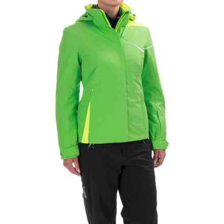 Spyder Amp Ski Jacket - Waterproof, Insulated (For Women) in Green Flash/White/Bryte Yellow - Closeouts