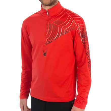 Spyder Angle T-Neck Shirt - Zip Neck, Long Sleeve (For Men) in Volcano - Closeouts