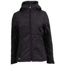 Spyder Arc Jacket - Soft Shell (For Women) in Black/Black/Blue My Mind - Closeouts