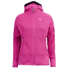 Spyder Ardent Sweater Hoodie - Midweight, Zip Front (For Women) in Sassy Pink/Sassy Pink - Closeouts