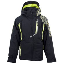 Spyder Avenger Jacket - Insulated (For Boys) in Black/Sharp Limemosaic Prin/Sharp Lime - Closeouts