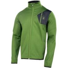 Spyder Bandit Fleece Jacket - Full Zip (For Men) in Mountain Top/Black - Closeouts