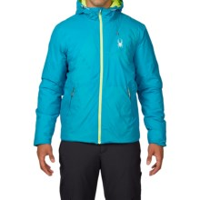 Spyder Berner PrimaLoft® Jacket - Waterproof, Insulated (For Men) in Electric Blue/Bryte Yellow - Closeouts