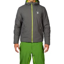 Spyder Berner PrimaLoft® Jacket - Waterproof, Insulated (For Men) in Polar/Theory Green - Closeouts