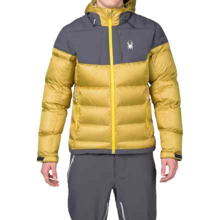 Spyder Bernese Down Ski Jacket - Waterproof, 700 Fill Power (For Men) in Brazen/Polar/Sun - Closeouts