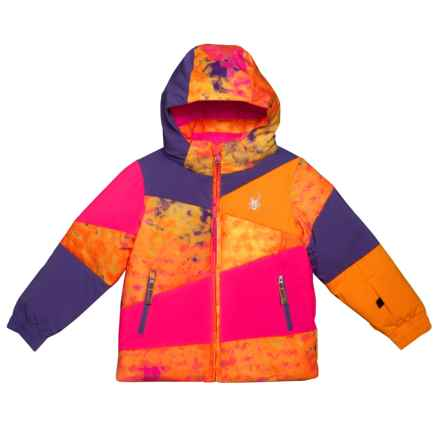 Spyder Bitsy Duffy Puff Jacket - Insulated (For Little Girls) in Morning Sky Bryte B/Gum Print/Bryte Bubblegum/Iris - Closeouts
