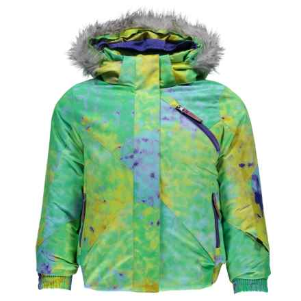Spyder Bitsy Lola Jacket - Waterproof, Insulated (For Little Girls) in Morning Sky Acid Print/Iris - Closeouts