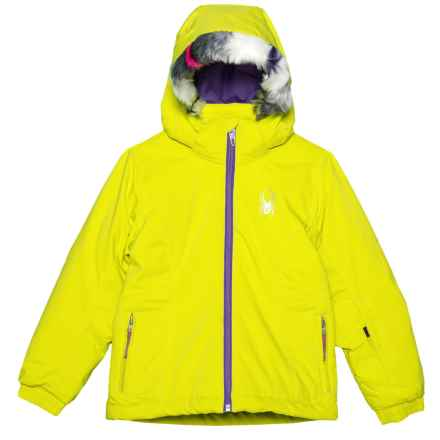 Spyder Bitsy Trixy Jacket - Waterproof, Insulated (For Little Girls) in Acid/Iris - Closeouts