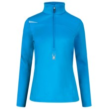 Spyder Bocca Stretch Fleece Shirt - Zip Neck, Long Sleeve (For Women) in Coast/Coast - Closeouts