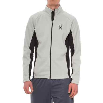 Spyder Bonded Fleece Sweater - Zip Front (For Men) in Cirrus Grey - Closeouts