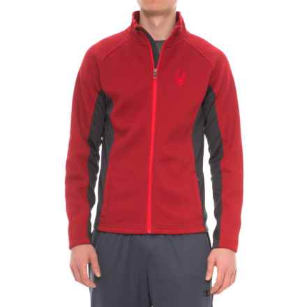 Spyder Bonded Fleece Sweater - Zip Front (For Men) in Dare Devil Red - Closeouts