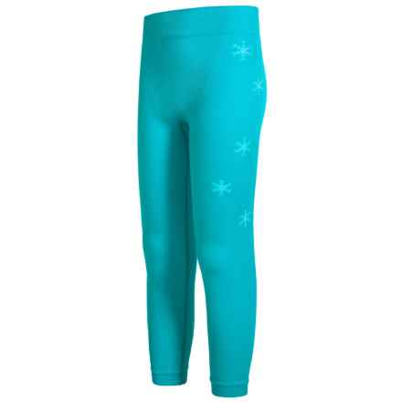 Spyder Boxed Crest Base Layer Pants (For Girls) in Bluebird/White - Closeouts