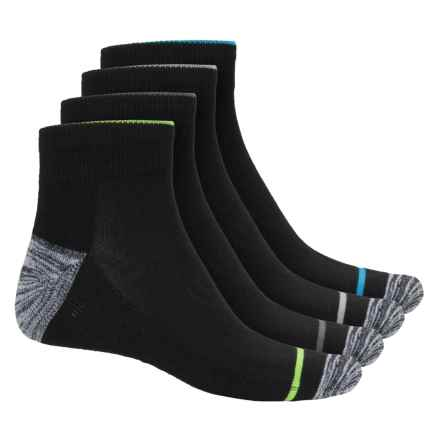 Spyder Bug-Mesh Socks - 4-Pack, Ankle (For Men) in Black - Closeouts