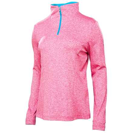 Spyder Cameo Therma Stretch Shirt - Zip Neck, Long Sleeve (For Women) in Girlfriend/Riviera - Closeouts