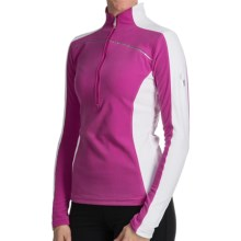 Spyder Cameo ThermaStretch Shirt - Zip Neck, Long Sleeve (For Women) in Sassy Pink/White - Closeouts