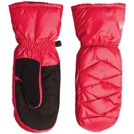 Spyder Candy Down Mittens - Waterproof, 650 Fill Power (For Women) in Bryte Pink - Closeouts
