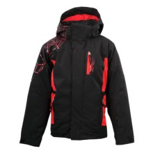 Spyder Challenger Jacket - Insulated (For Boys) in Black/Red/Red - Closeouts