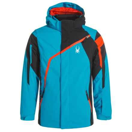 Spyder Challenger Jacket - Insulated (For Boys) in Electric Blue/Black/Rage - Closeouts