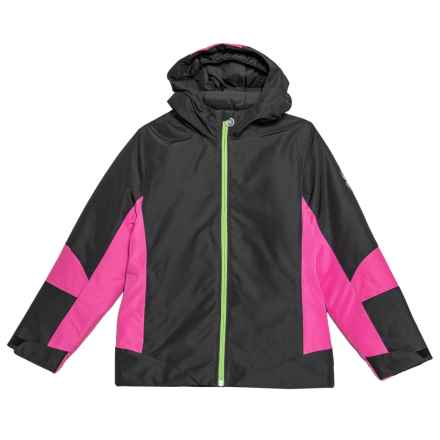 Spyder Charm Jacket - Insulated (For Girls) in Black/Raspberry - Closeouts