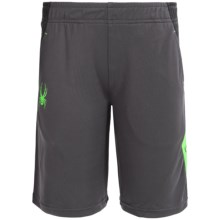 Spyder Color-Blocked Shorts (For Big Boys) in Bryte Green - Closeouts