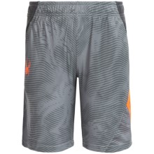 Spyder Color-Blocked Shorts (For Big Boys) in Bryte Orange/Grey/Charcoal - Closeouts