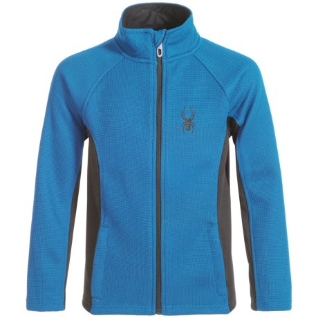 Spyder Constant Core Jacket - Zip Front (For Big Boys) in Concept Blue