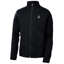 Spyder Constant Jacket - Full Zip  (For Men) in Black/Graystone - Closeouts