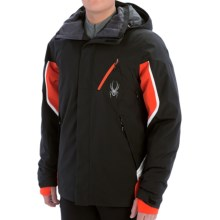 Spyder Control Ski Jacket - Insulated (For Men) in Black/Volcano/White - Closeouts
