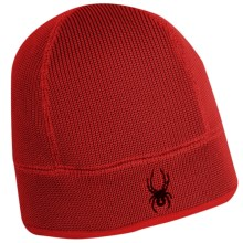 Spyder Core Sweater Beanie Hat - Fleece Lining (For Men) in Red - Closeouts