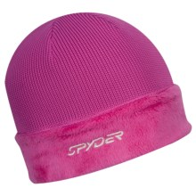 Spyder Core Sweater Hat - Cable Knit, Fleece (For Women) in Sassy Pink - Closeouts