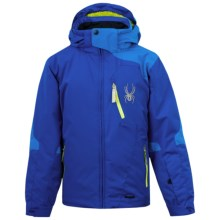Spyder Cosmos Jacket - Insulated (For Boys) in Just Blue/Collegiate/Sharp Lime - Closeouts