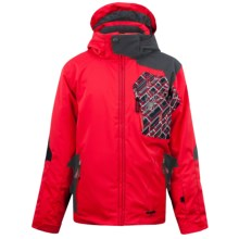Spyder Cosmos Jacket - Insulated (For Boys) in Red/Black/Red Mosaic Print - Closeouts